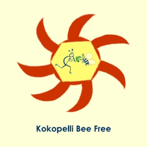Kokopelli Bee Free Logo © Stefanie Neumann - All Rights Reserved.