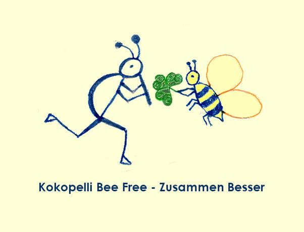 Kokopelli Bee Free - Zusammen Besser Logo © Stefanie Neumann - All Rights Reserved; #KBFZusammenBesser #KBFPhotography #KokopelliBeeFree
